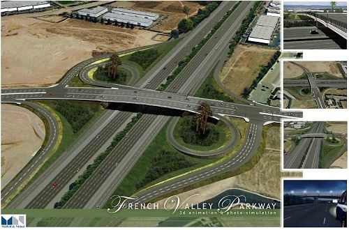 French Valley Parkway Interchange Aerial View