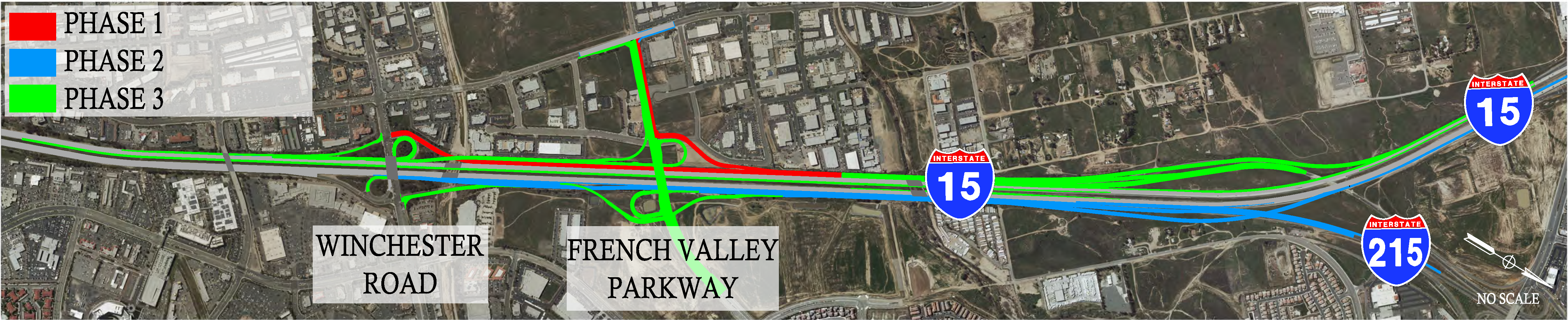 Map of French Valley Parkway Interchange