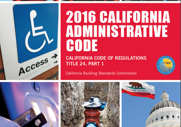 2016 California Building Code Update