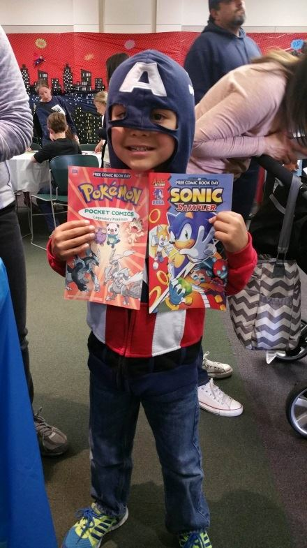 Comic Book Day Boy with Book