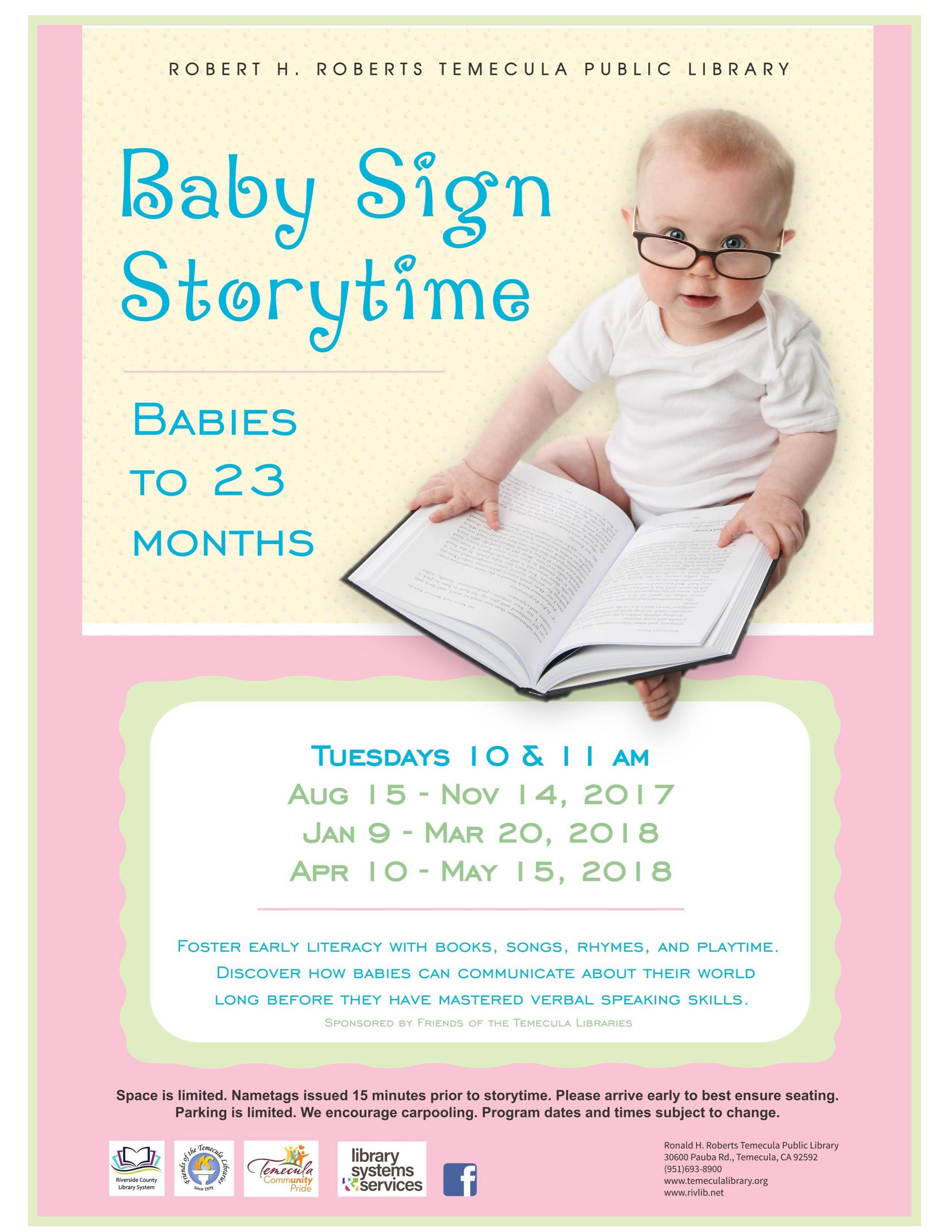 Baby Storytime 2017-2018