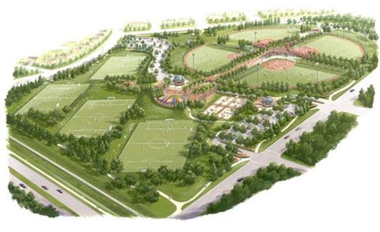 Patricia H. Birdsall Sports Park Illustration