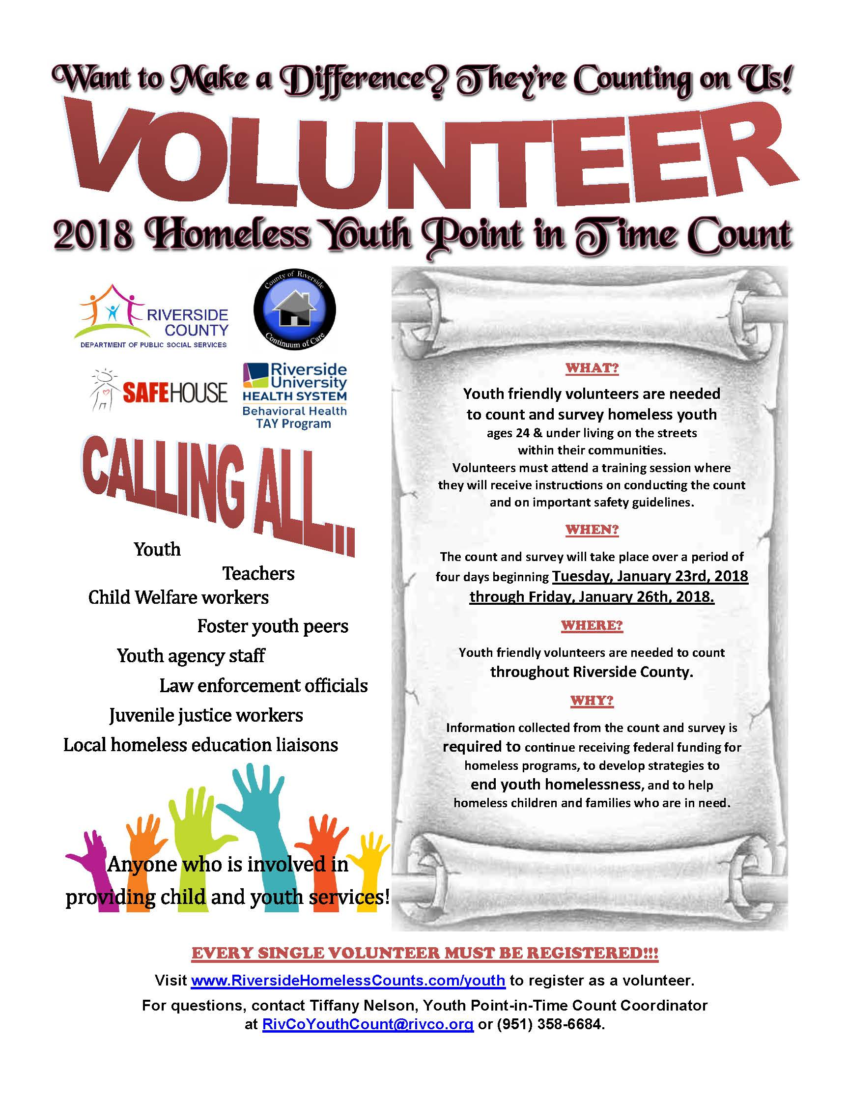 Point In Time Count Volunteer Flyer