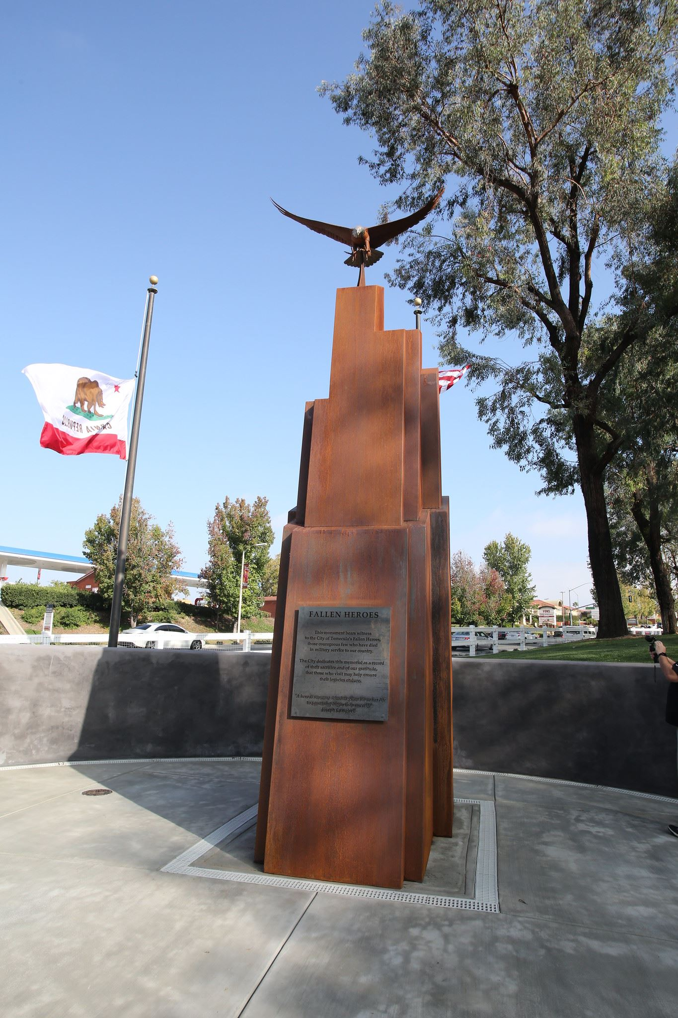Fallen Heroes Memorial at Temecula Duck Pond