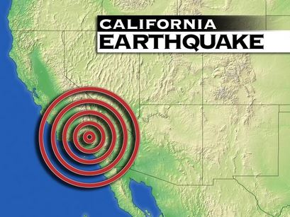 California Earthquake Graphic