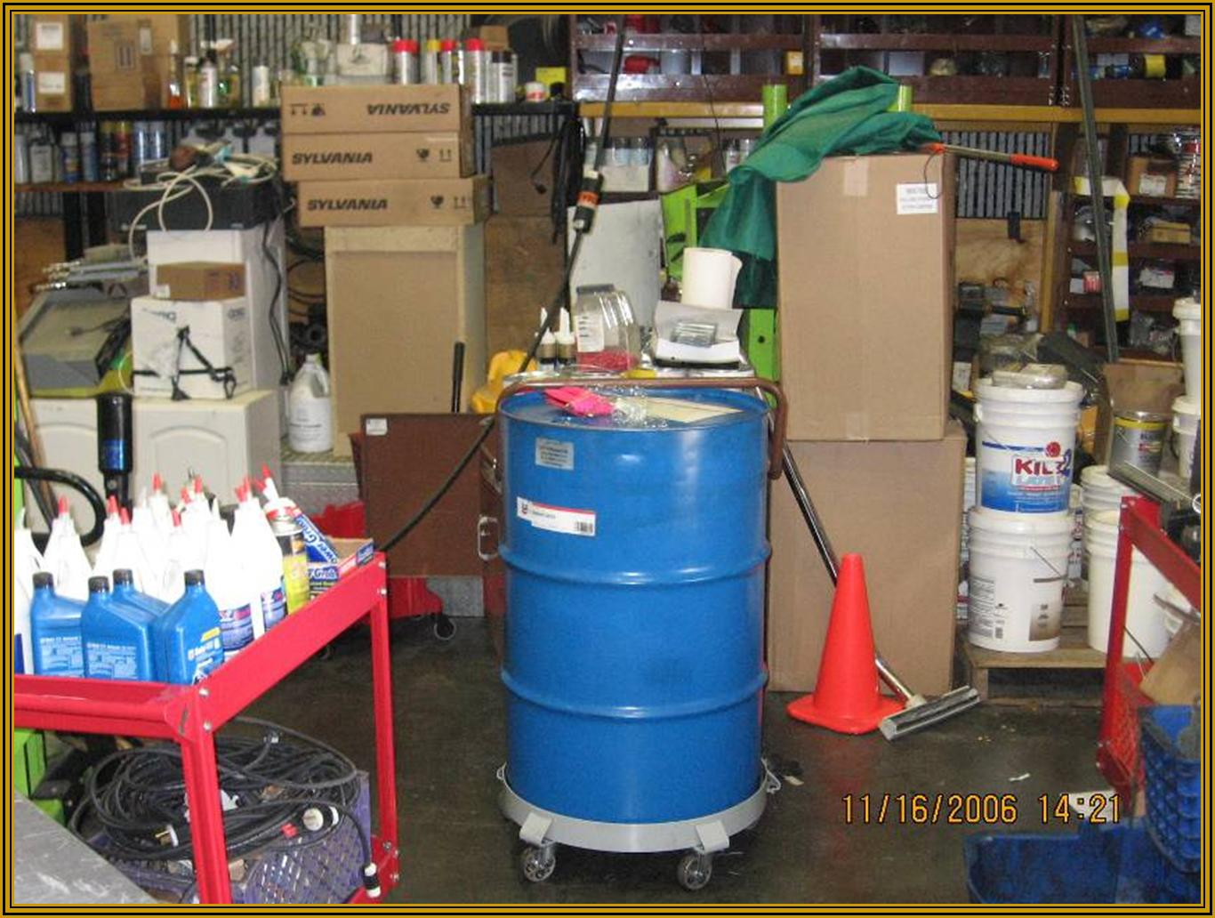Chemicals Stored in a Warehouse