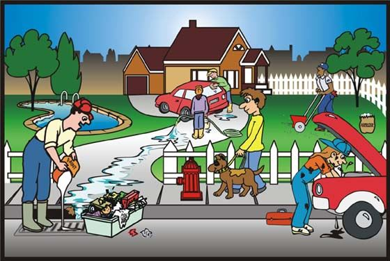 Illustration of Residential Pollution