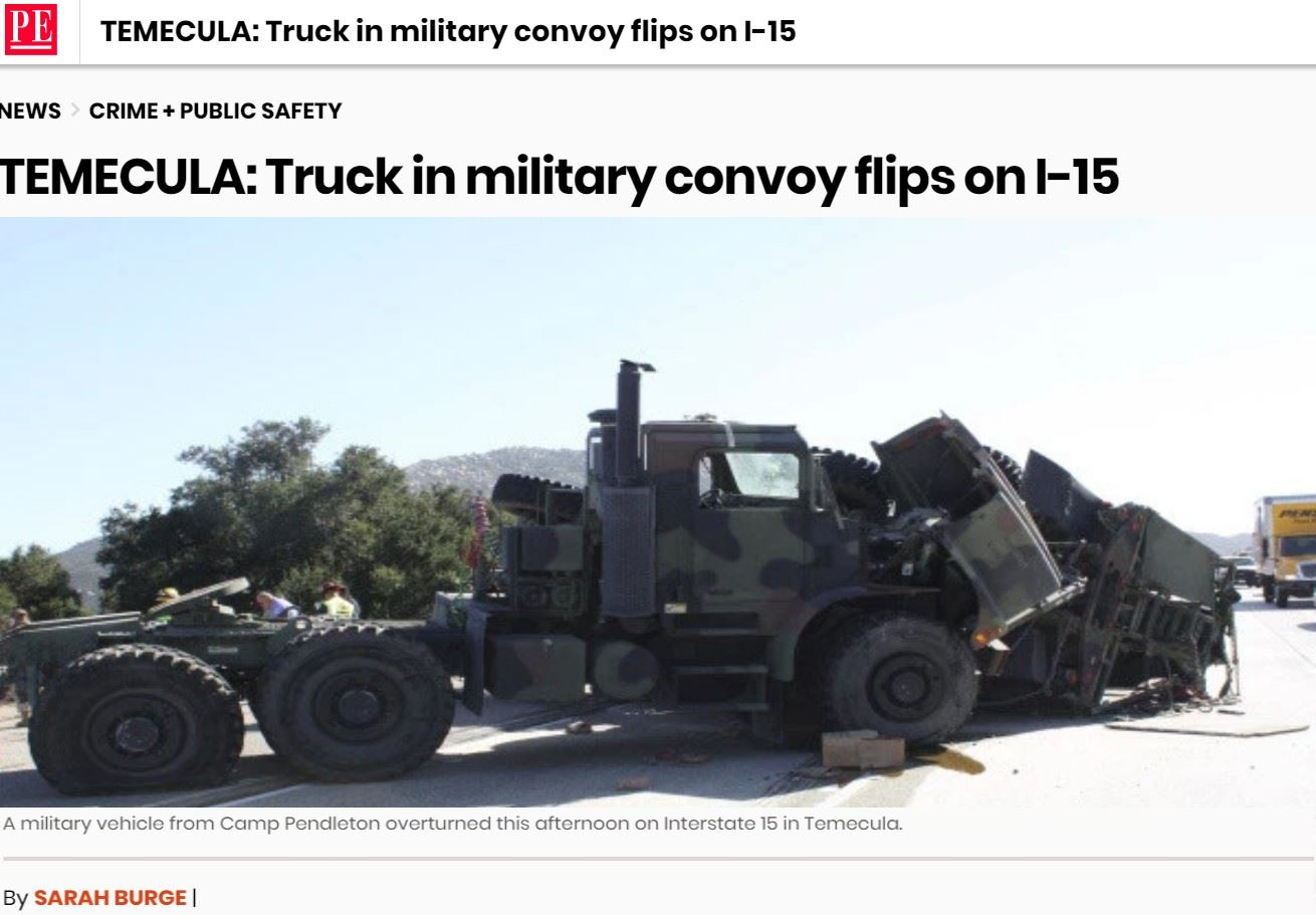 MILITARY CONVOY FLIPS ON I-15_2
